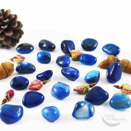 Agate bleue pierre
