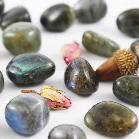 Labradorite pierre roulée