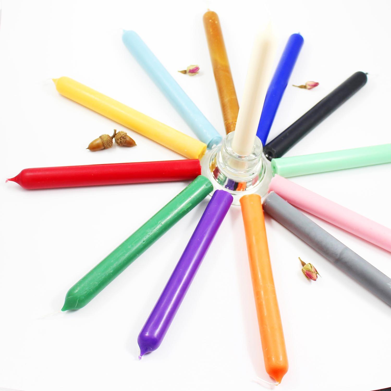 bougies colorées en cercle